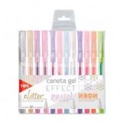 Caneta Gel Effect Pastel + Glitter + Neon | TRIS