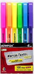 Caneta Marca Texto Neon Kit com 6 | Newpen