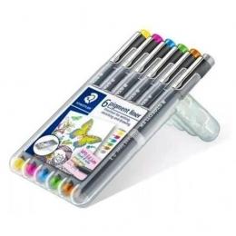 Caneta Nanquim com 6 cores Pigment Liner Estojo Montável | Staedtler