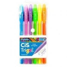 Canetas Gel Coloridas Trigel Tons Pastel Kit com 6 cores | CiS