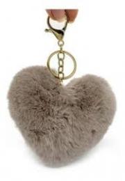Chaveiro Coração Pelúcia | Importado