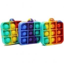 Mini Chaveiro Pop It Anti Estresse Relaxamento Ansiedade Fidget Toy | Importado