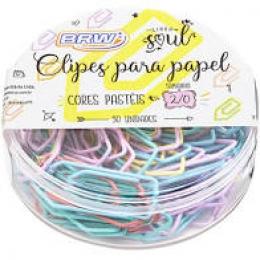 Clipes para Papel 2/0 Colorido Pastel | BRW