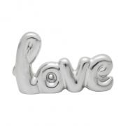 Enfeite Love Cerâmica Prata   Importado