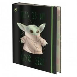 Fichário Argolado Universitário Star Wars - Baby Yoda 48 folhas| DAC