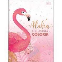 Folhas para Colorir Aloha Flaminho 16 desenhos 200x275mm | Tilibra