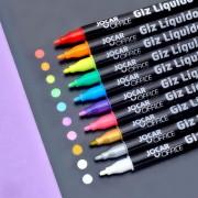 Giz Líquido Pontado 1-2mm (fina) Jocar Office | Cores variadas | Leonora