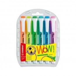 Kit Marca Texto Swing Cool Neon com 6 Cores 275/6 | Stabilo