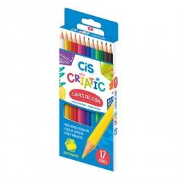 Lápis de cor Criatic 12 cores | CIS