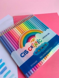 Lápis de cor Criatic Tons Pastel 24 unidades | Cis