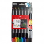 Lápis de Cor e Grafite EcoLápis Supersoft 12 Cores + 2 Grafites | Faber-Castell