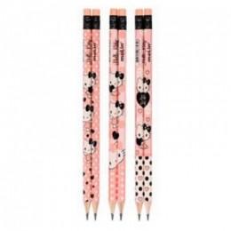 Lápis Preto HB N° 2 Com Borracha Hello Kitty ROSA   Estampas Variadas   Molin
