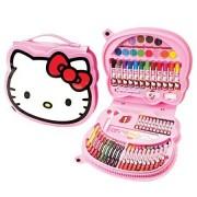 Maleta de Pintura Hello Kitty com 70 Itens   Molin