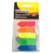 Marca Página Seta Plastico Stick Note Pad 5 cores | Importado