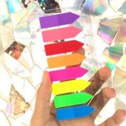 Marca Página Seta Plastico Stick Note Pad 8 cores | Importado