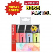 Marca Texto Boss Cores Novas kit com 4 cores   Stabilo
