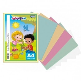 Papel Sulfite Colorido A4 75g - 100fls | Jandaia