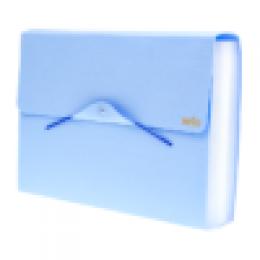 Pasta Sanfonada com 31 Divisórias Serena Azul Pastel | Dello