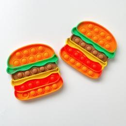 Pop Popit de Silicone Fidget Toy Brinquedo Anti stress Relaxante Hambúrger   Importado