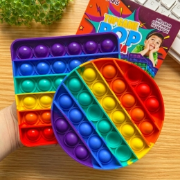 Pop Popit de Silicone Fidget Toy Top Game Anti stress Arco Iris   Importado