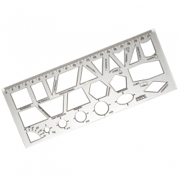 Régua Geométrica Cristal   Waleu