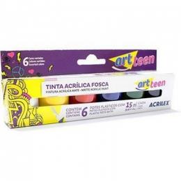 Tinta Acrílica Fosca para Artesanato 6 cores 15 ml | Acrilex