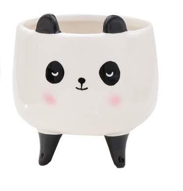 Vaso Cachepot Pequeno Panda Kawaii 8x8x7cm  Bras Continental