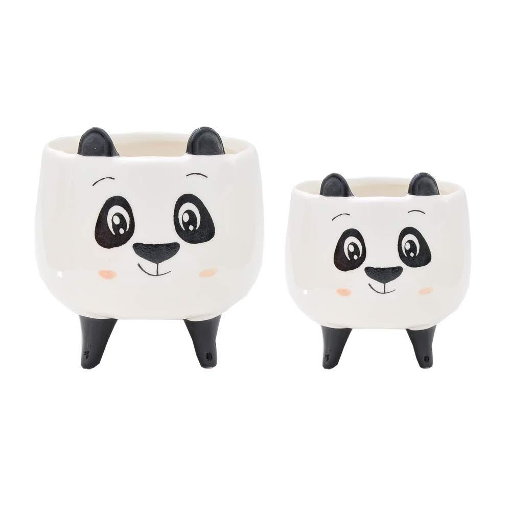 Vaso Cachepot Pequeno Panda Narizinho 8x8x7cm | Bras Continental