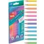 Lápis De Cor 12 Cores MegaSoft Color | Tons Pastel | Tris