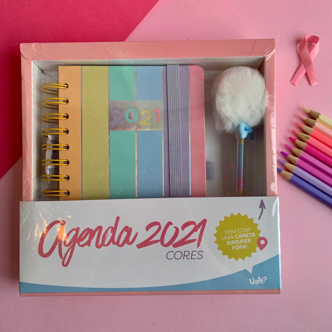 Agenda 2021 Com Pompom - Cores   Uatt