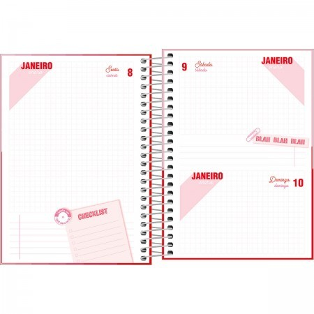 Agenda Espiral Diária Pink 2021 Sortida | Tilibra