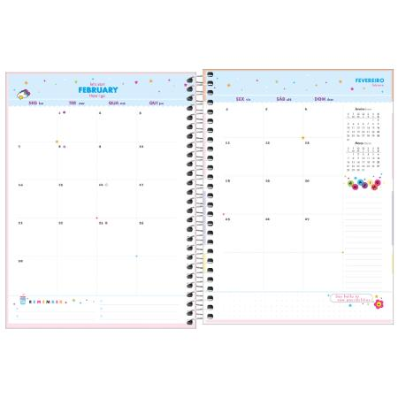 Agenda Espiral Planner Happy Azul 2022   Tilibra