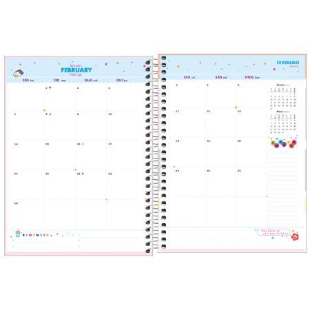 Agenda Espiral Planner Happy 2022 Rosa | Tilibra
