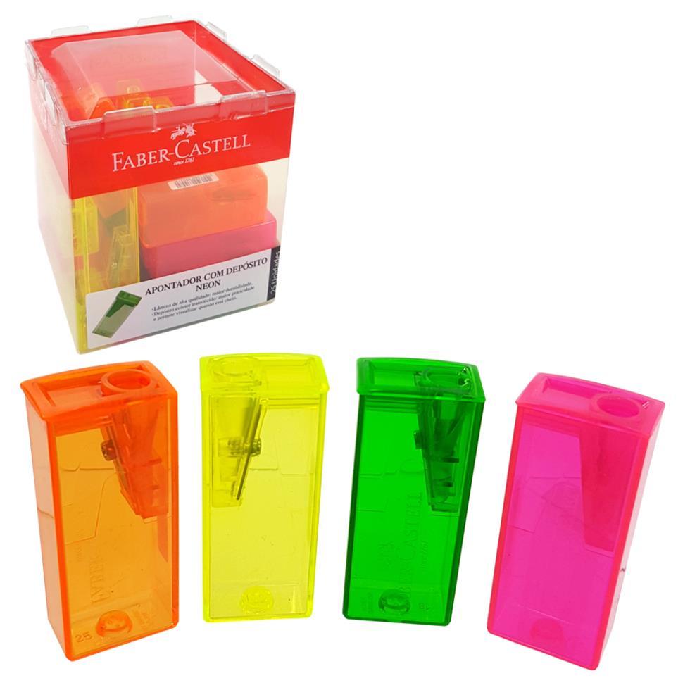 Apontador com depósito Neon | Faber-Castell