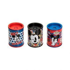 Apontador Redondo Metálico com depósito Mickey Mouse | Molin