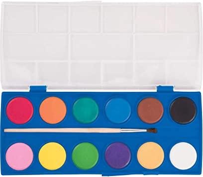 Aquarela Escolar Mega Acqua Color Estojo 12 Cores  Tris