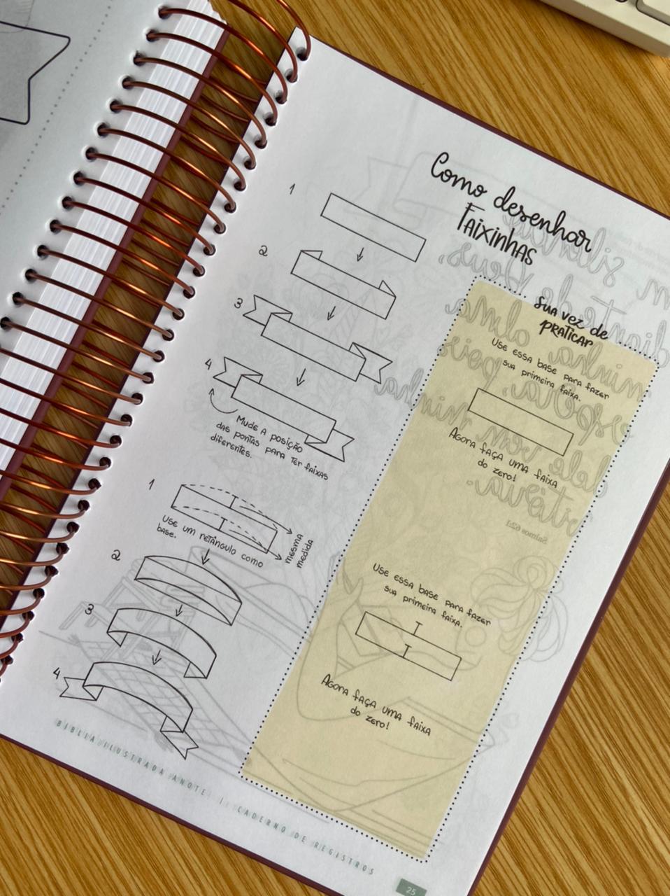 Bíblia Ilustrada Anote Florescer NVT Letra Normal Capa Dura Espiral | Plenitude
