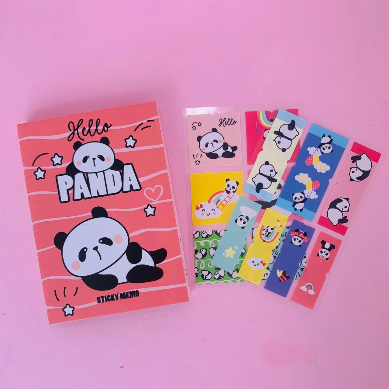Bloco Adesivado Livrinho Decorativo Post it Panda | Importado - Verde