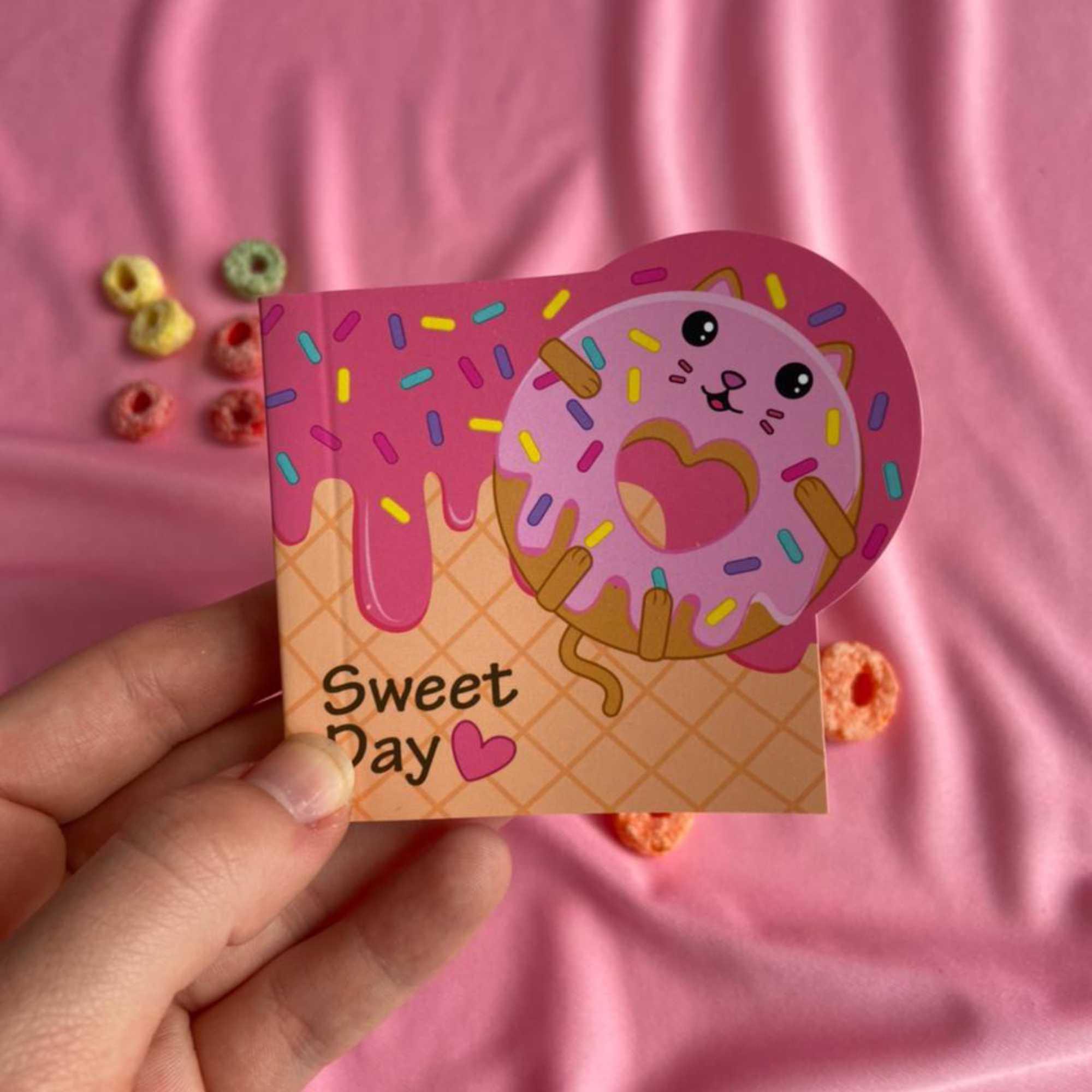 Bloco de Anotações Mini Fofinhos Cacto ou Preguiça ou Donut | Win paper