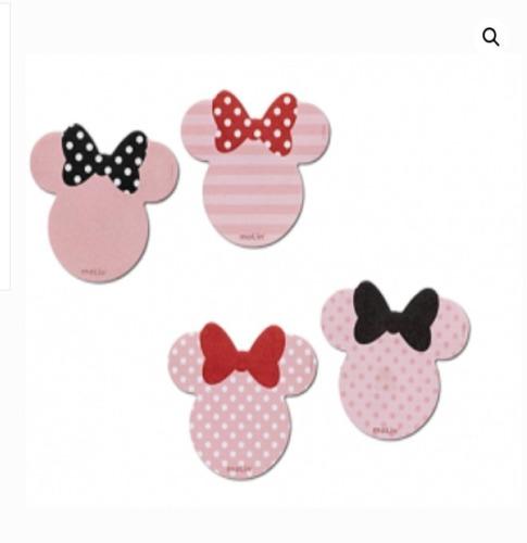 Bloco de Notas Adesivas 50 Folhas Minnie Mouse Laço Vermelho   Molin