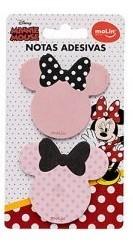 Bloco de Notas Adesivas 50 Folhas Minnie Mouse Laço Vermelho | Molin
