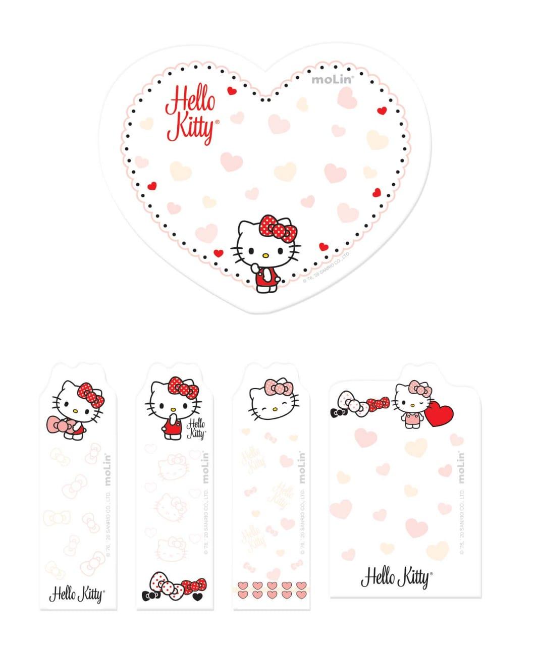Bloco de Notas Adesivas Hello Kitty | Molin