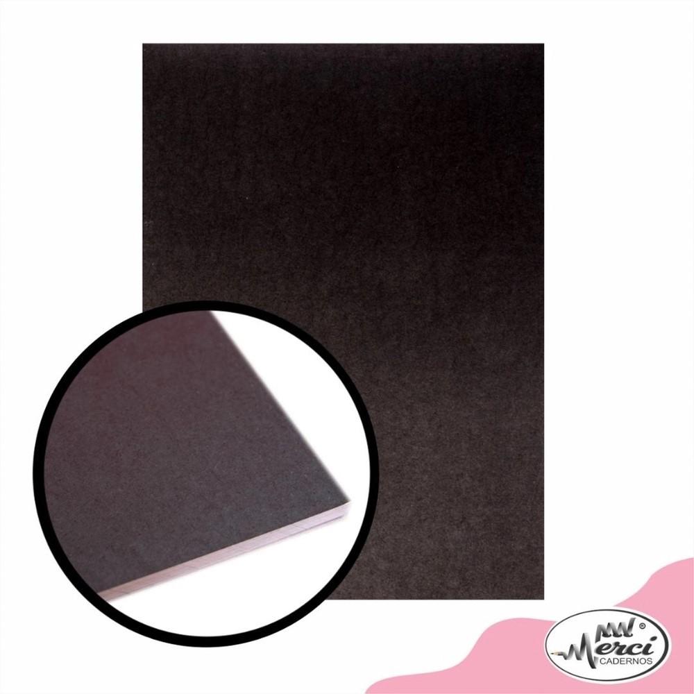 Bloco Folhas Pretas Black 180gr | Merci Cadernos
