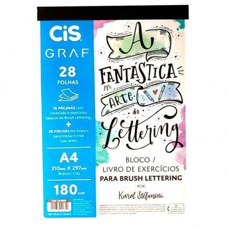 Bloco para Lettering com 28 Folhas - Papel A4 Gramatura 180 Graf por Karol Stefanini | Cis
