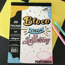 Bloco para Lettering Pontilhado 180gr | Merci Cadernos