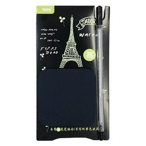 Bloco Preto Paris Torre Eifel Auto Adesivo com Caneta SORTIDA | Importada