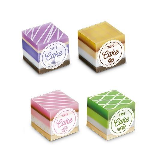 Borracha Cake - Cheirinho de Bolo 4 modelos | Tris