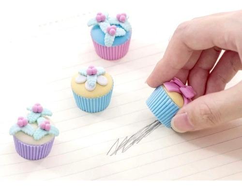 Borracha Cupcake Bolinho com 4  | Importado