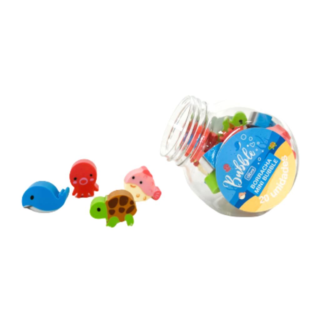 Borracha Mini Bubble Kit com 4 Unidades  | Tilibra