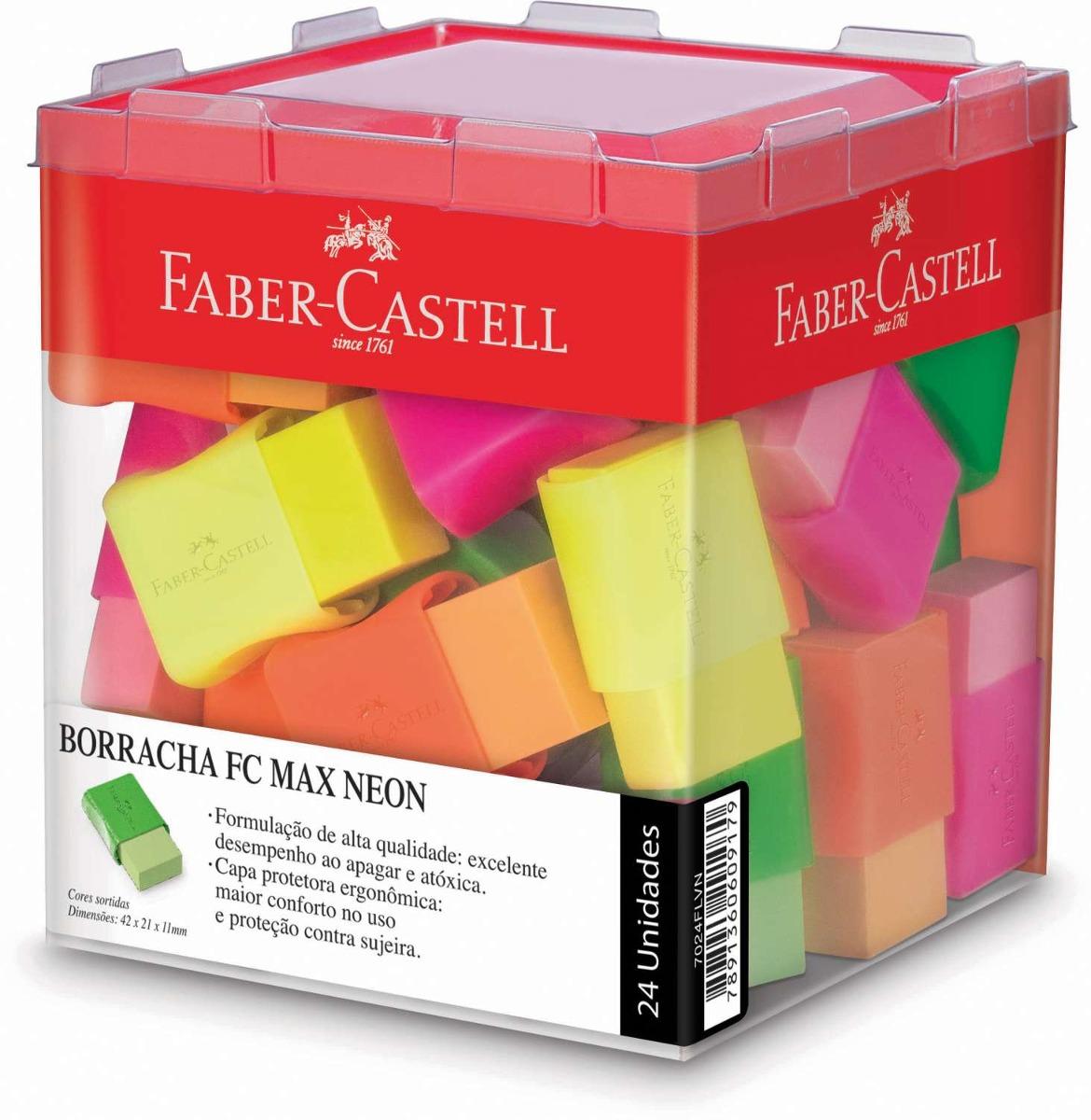 Borracha Plástica Max Neon - Cores Variadas |Faber-castell